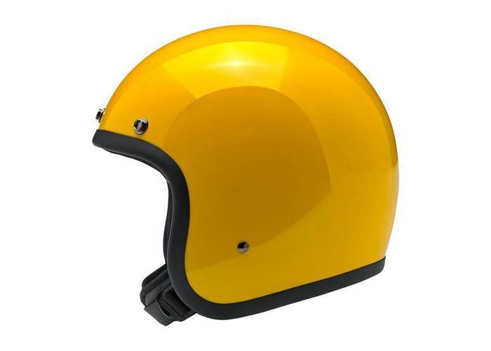 Biltwell Bonanza 3/4 Open Face Helm Safe-T Geel