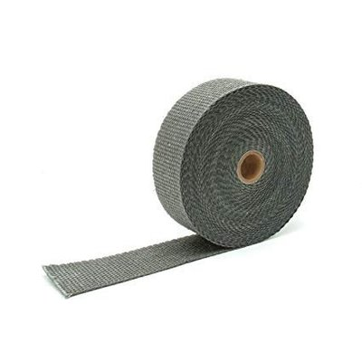 MCU 10M x 5CM Uitlaat Wrap / Exhaust Wrap / Heat Wrap Antraciet