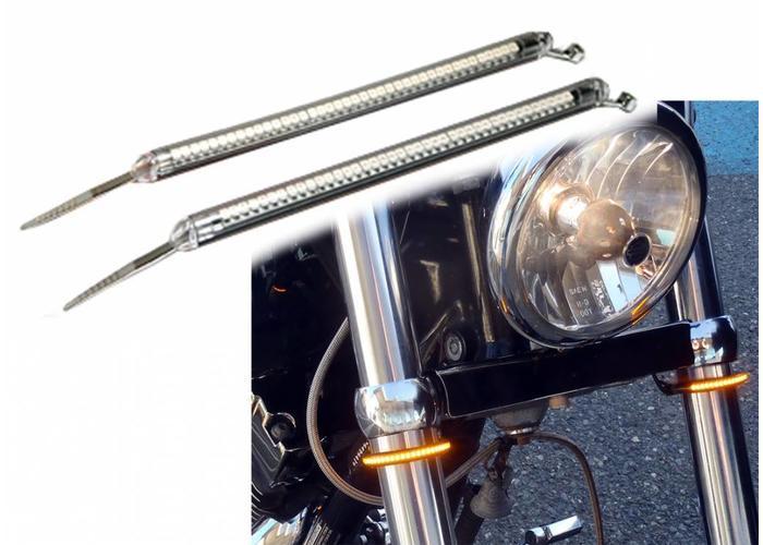 Set LED Voorvork Knipperlichten Buigbaar