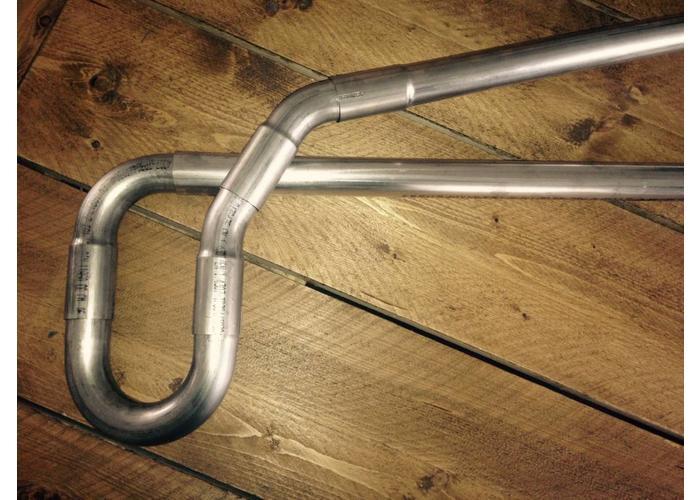 45 MM DIY uitlaatpijpset roestvrij staal
