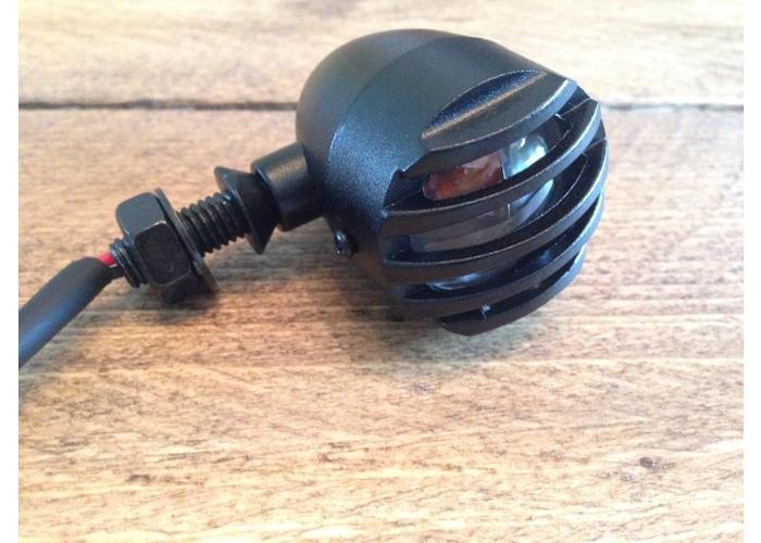 Set Steampunk Flat Black Bullet Knipperlichten