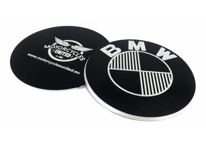 CNC Aluminium BMW 70MM Emblemen Set Zwart Type 4