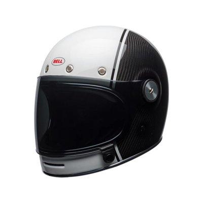 Bell Bullitt Carbon Helm Gloss White / Carbon Pierce