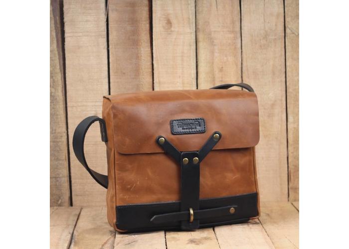 Trip Machine Messenger Bag - Tan