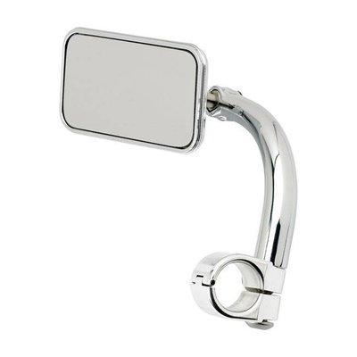 "Biltwell Rechthoek Utility Mirror Clamp-On-1 ""Chrome"