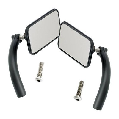 Biltwell Rechthoek Utility Mirror Set Perch Mount Black