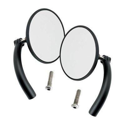 Biltwell Utility Mirror Set Round Perch Mount Black