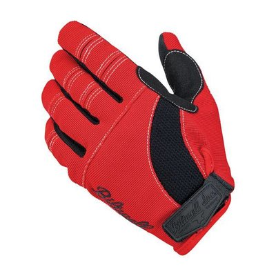 Biltwell Moto Gloves Red/Black/White