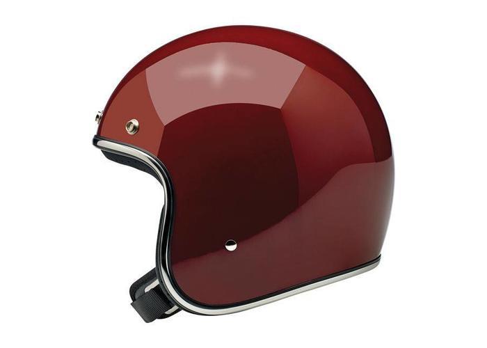 Biltwell Bonanza 3/4 Open Face Helmet Gloss Garnet