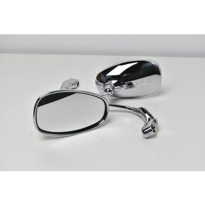 Verstelbare Bar end Mirror ABS Chrome