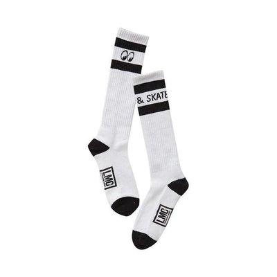 LMC Mooneyes Hoge Sokken Zwart / Wit