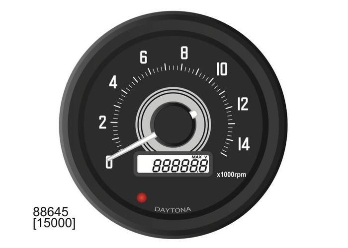 Daytona Velona 60MM Toerenteller 15000 RPM - type 1
