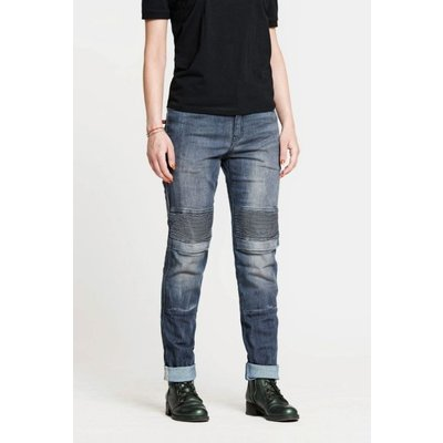 Pando Moto Women Rosie Navy Plain Pants