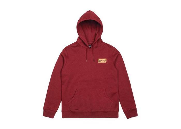 BRIXTON Springfield Fleece hoodie rood