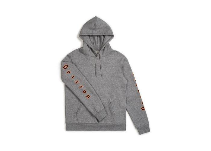 BRIXTON Primo hoodie grijs nieuwe collectie!