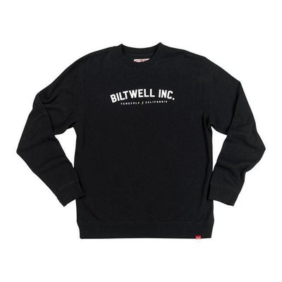Biltwell Basic sweater Crewneck zwart