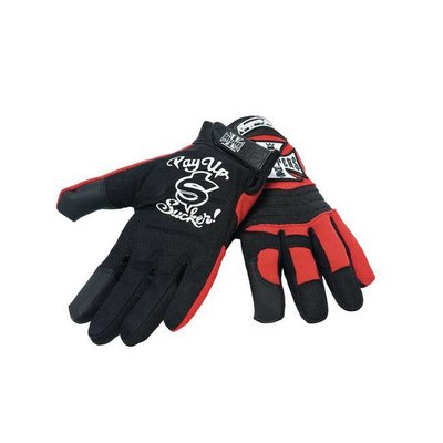 West Coast Choppers Riding Gloves zwart/rood