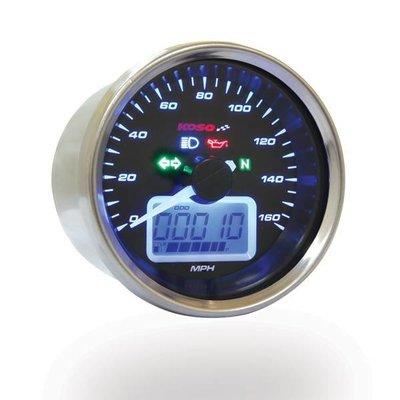KOSO D64 Street Style Snelheidsmeter + signaallichten (max. 160 km / h / mph)