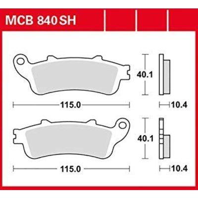 TRW Remblokken MCB840 Gesinterd Achterzijde