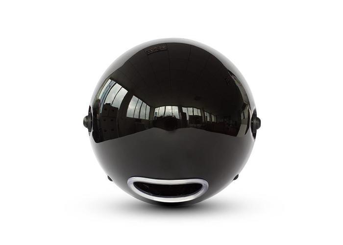 "7.7 ""Classic Gloss Black Headlight - Yellow Lens"