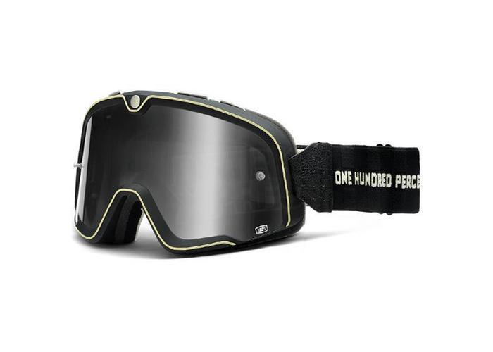100% De Barstow Classic Goggle Checkers-Silver Mirror Lens