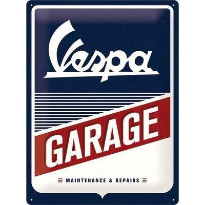 Vespa Garage 40X30cm Reclame bord