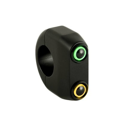 Rebelmoto REBEL.SWITCH 2 knops LED - Zwart 22mm