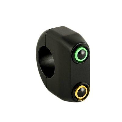 "Rebelmoto REBEL.SWITCH 2 knops LED - Zwart 1"""