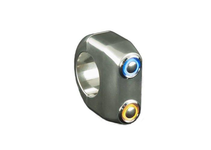 Rebelmoto REBEL SWITCH 2 knops LED - Polished 22mm