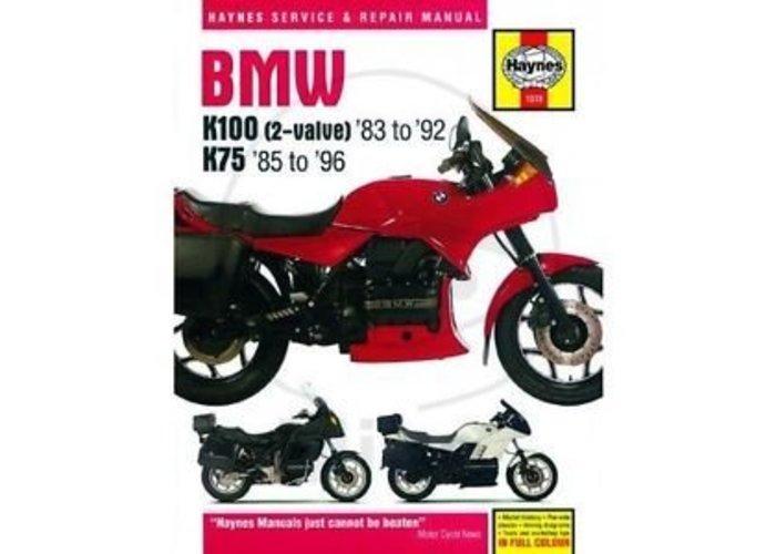 Haynes Werkplaatshandboek BMW K100 AND 75 2-VALVE MODELS 1983 - 1996
