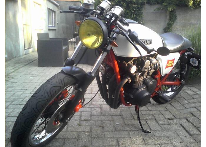 """Shin Yo Cafe Racer Koplamp 7"""" Mat Zwart Universeel Type 3"""