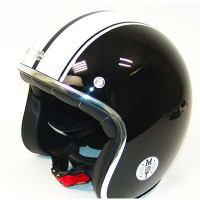 MT Helmets Le Mans Retro Speed Zwart / Wit