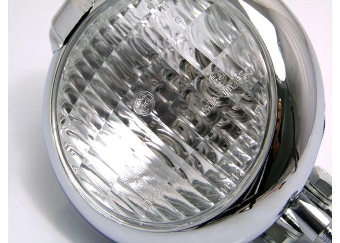 "5.75"" Chopper Koplamp ""Bates Style"" Chrome"