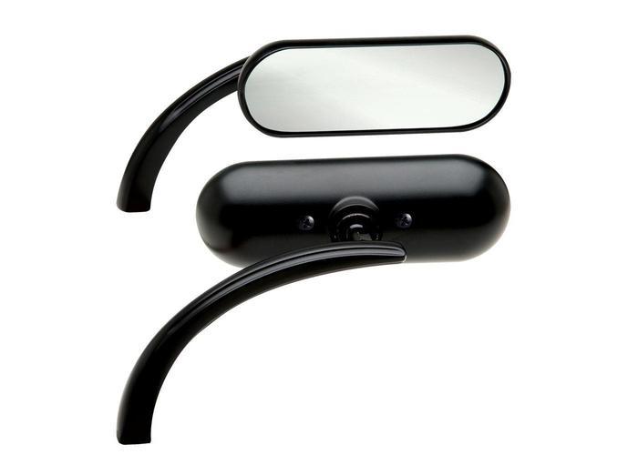 Arlen Ness Mini Oval Black Spiegel