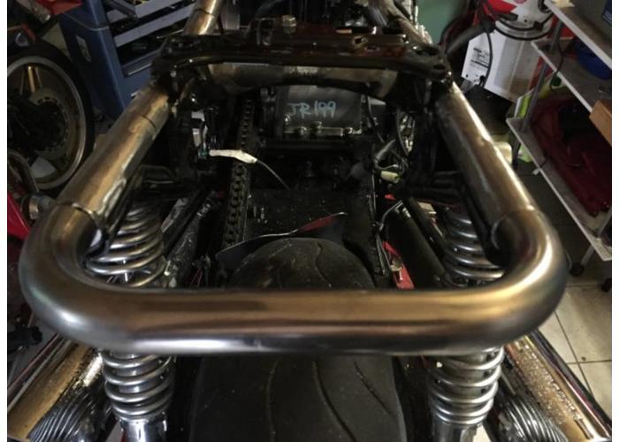 "MCU 1"" Cafe Racer Hoop ""U-shape"" Subframe Bocht OD: 230MM"