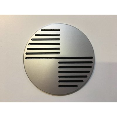 Luxe BMW 70MM Emblemen Brushed Type 2
