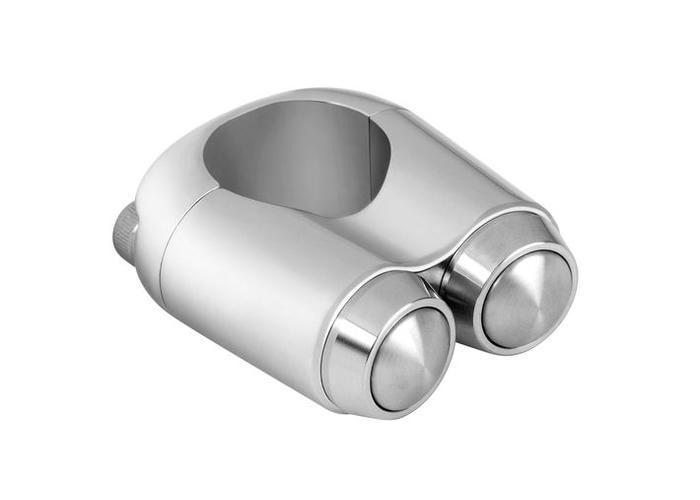 "Motone 2 Button Schakelaar 25.4MM of 1"" Chrome"