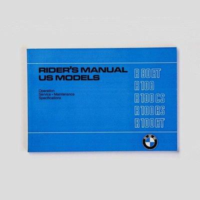 Rider's handboek R80 / 7 R100T R100RT R100S R100RS 9 / 78-9 / 80, Engels