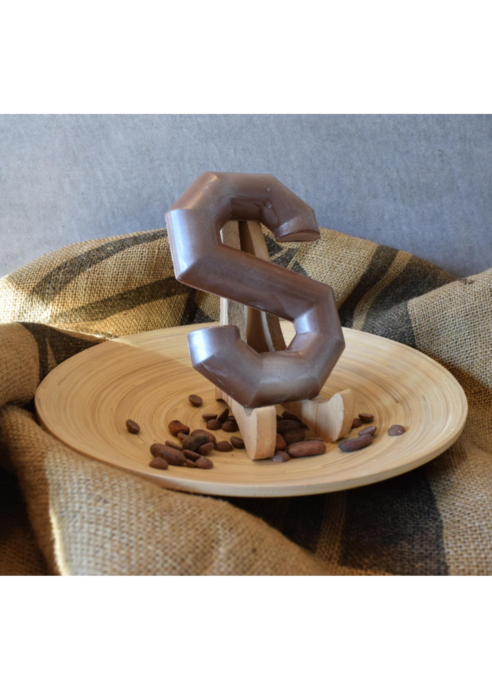 Gladde chocoladeletter S