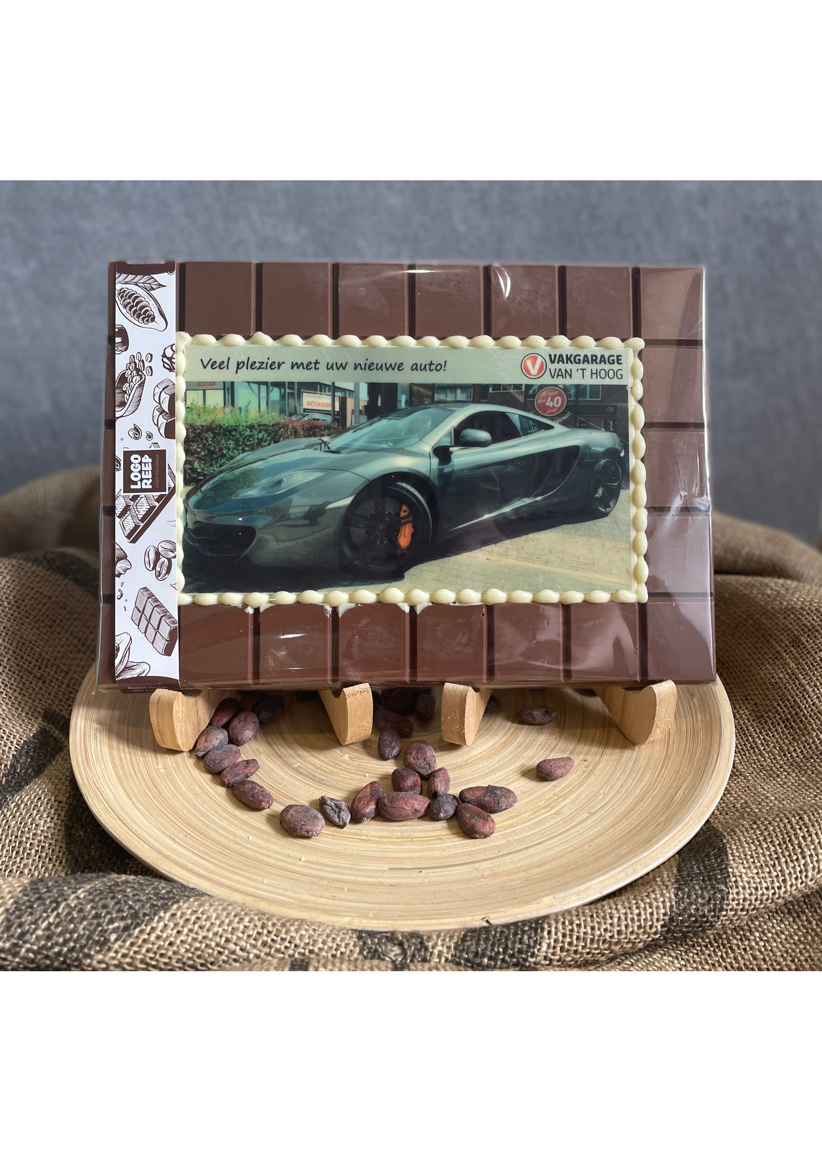 XXL chocolade tablet met print