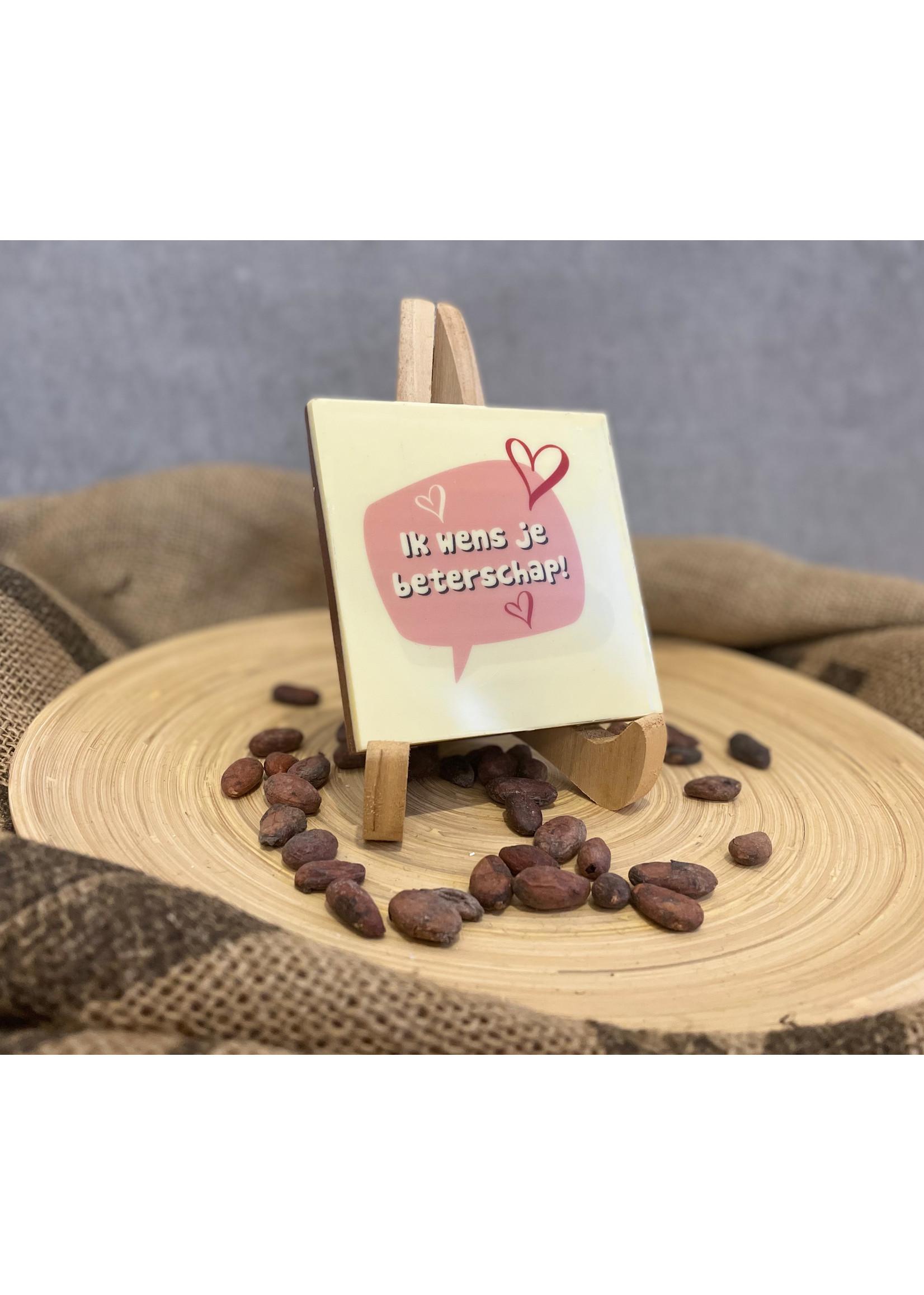 Ik wens je beterschap chocolade!