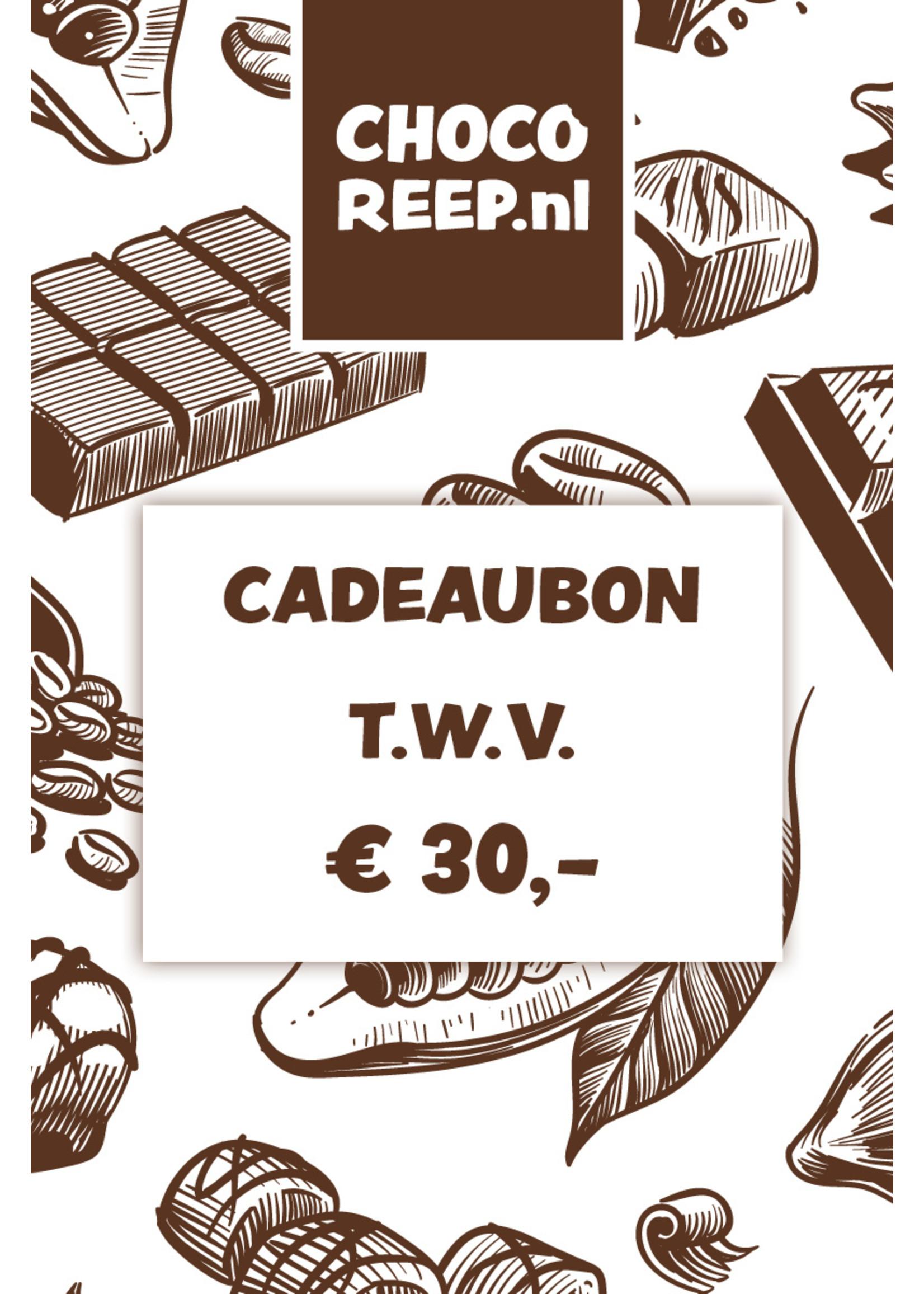 Cadeaubon t.w.v. € 30,-