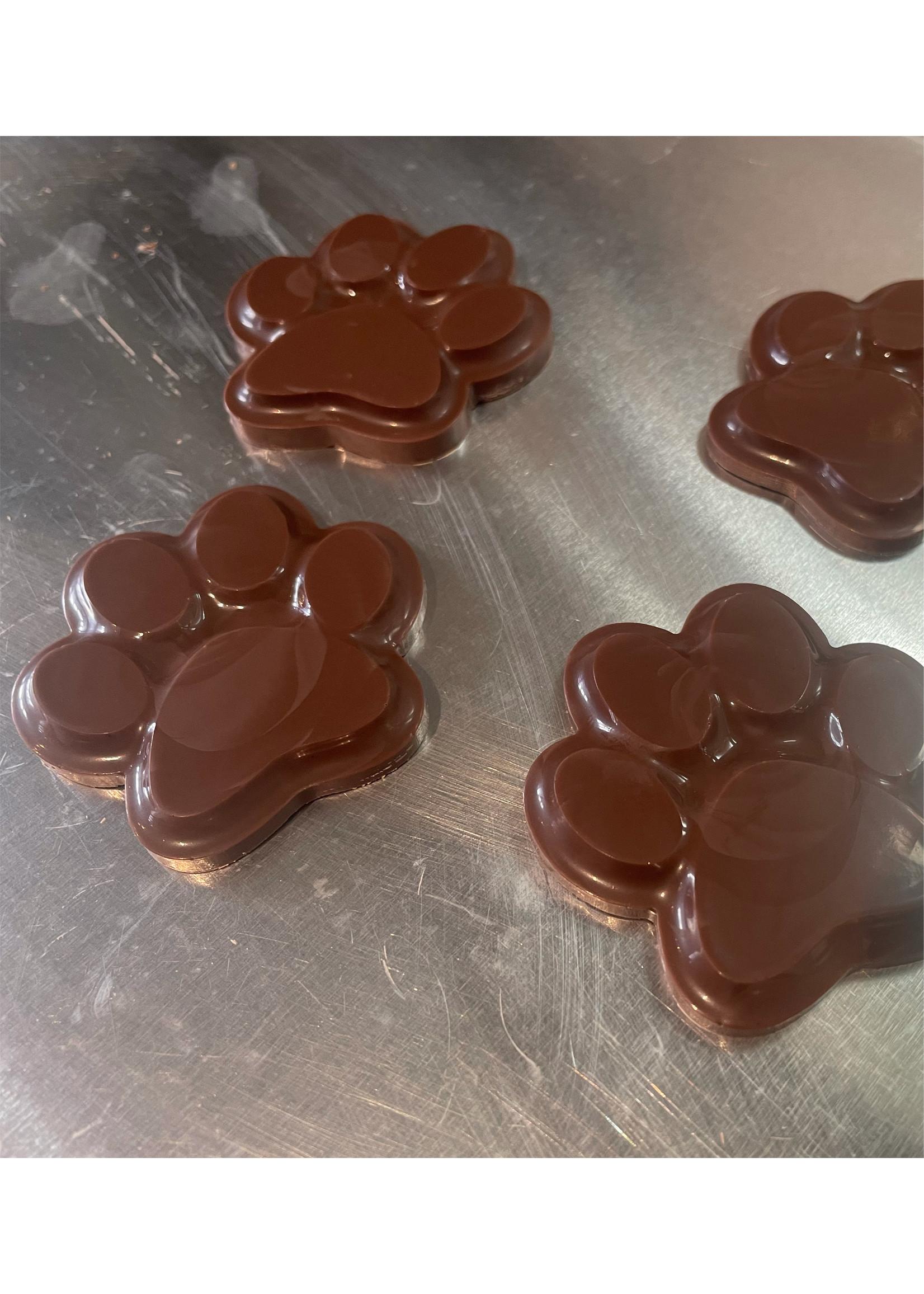 Hondenpootjes van Chocolade