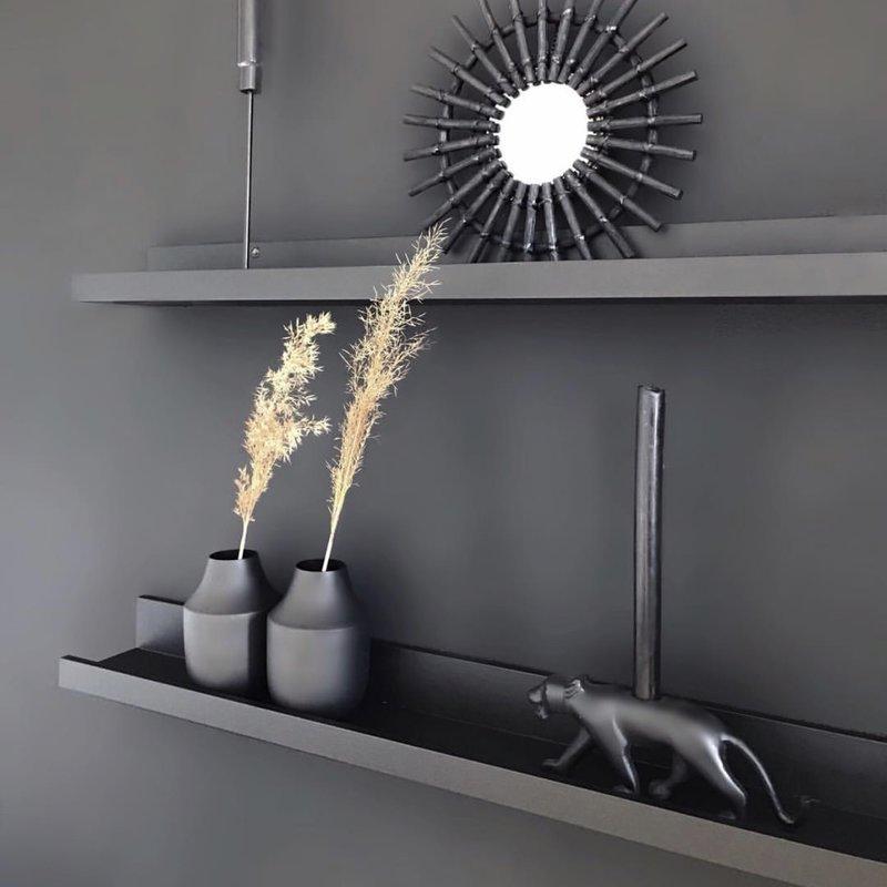 Black Metal Vase Ø10