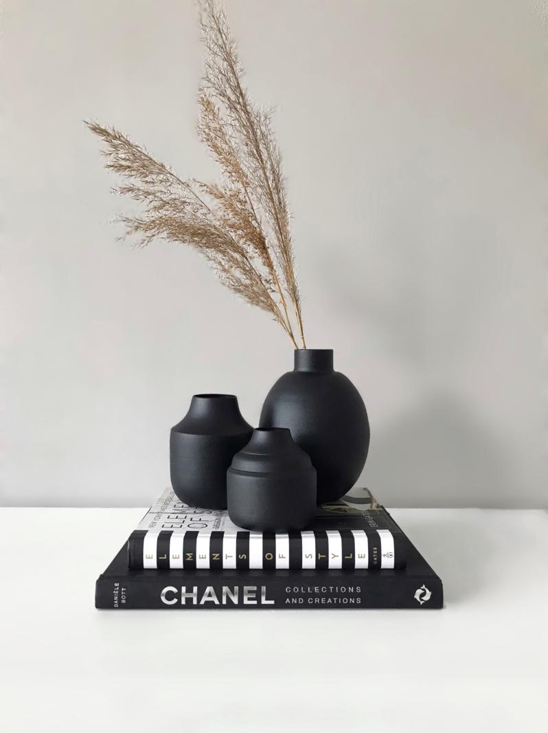 Black Metal Vase Ø8
