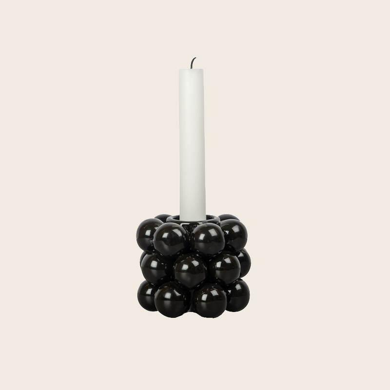 Candle Holder Beads Black
