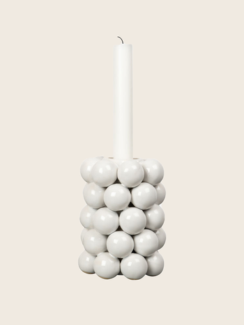 Candle Holder Beads White