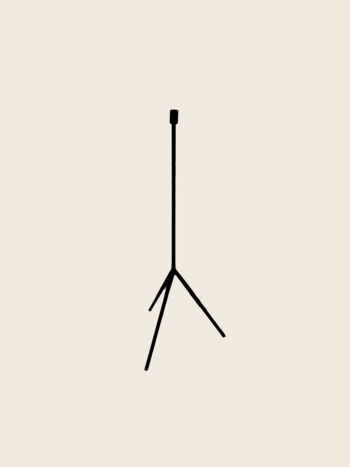Candle Holder Tripod S