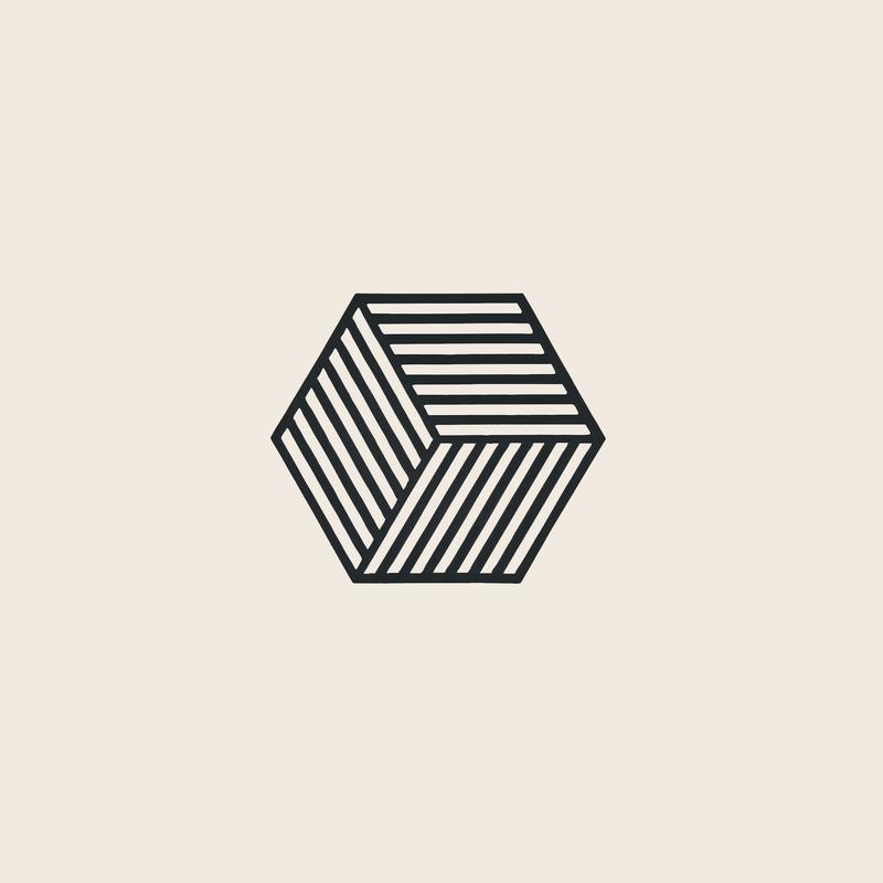 Zone Denmark Coaster Hexagon Black