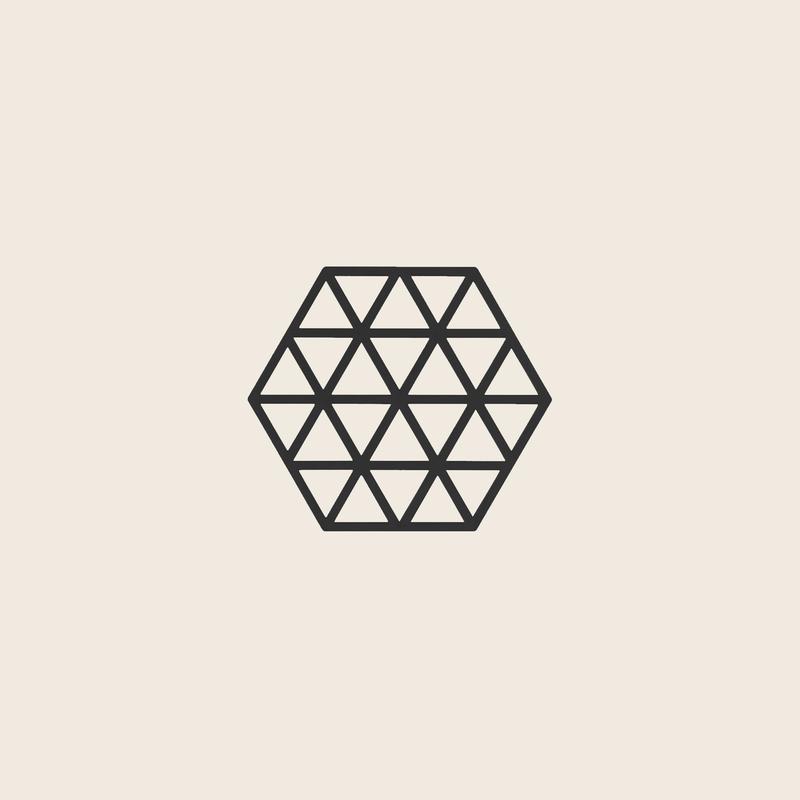 Zone Denmark Coaster Triangles Black